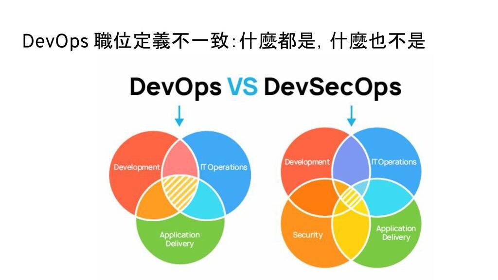 DevOps 職位定義不一致:什麼都是,什麼也不是