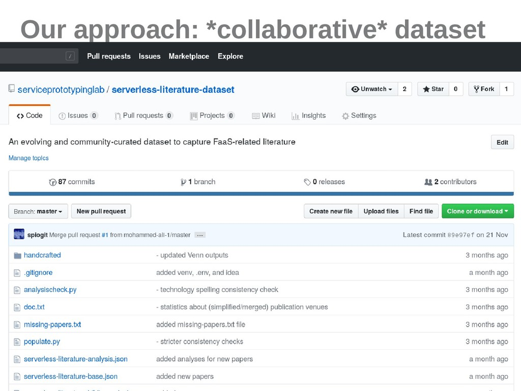 4 Our approach: *collaborative* dataset