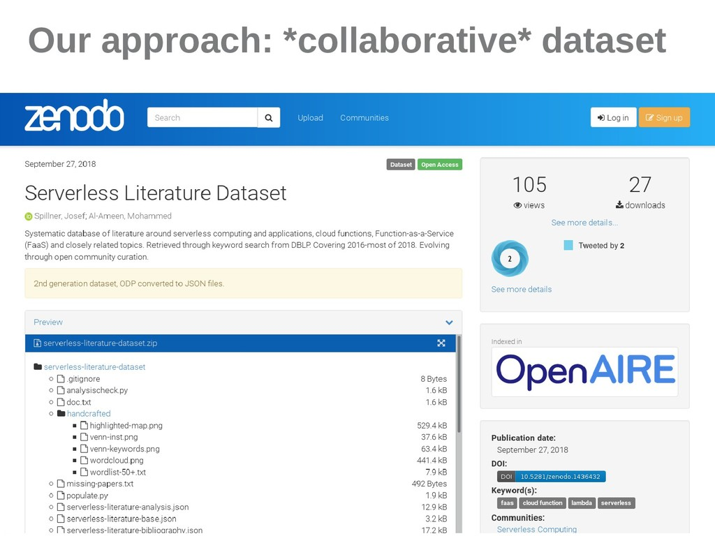 5 Our approach: *collaborative* dataset