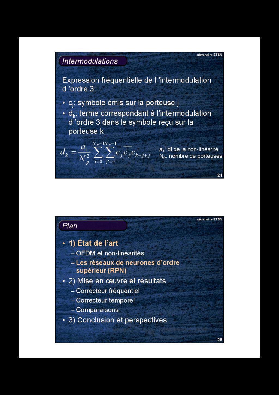 24 séminaire ETSN Intermodulations • cj : symbo...
