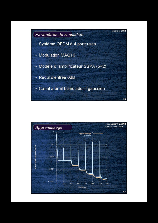 46 séminaire ETSN Paramètres de simulation • Sy...