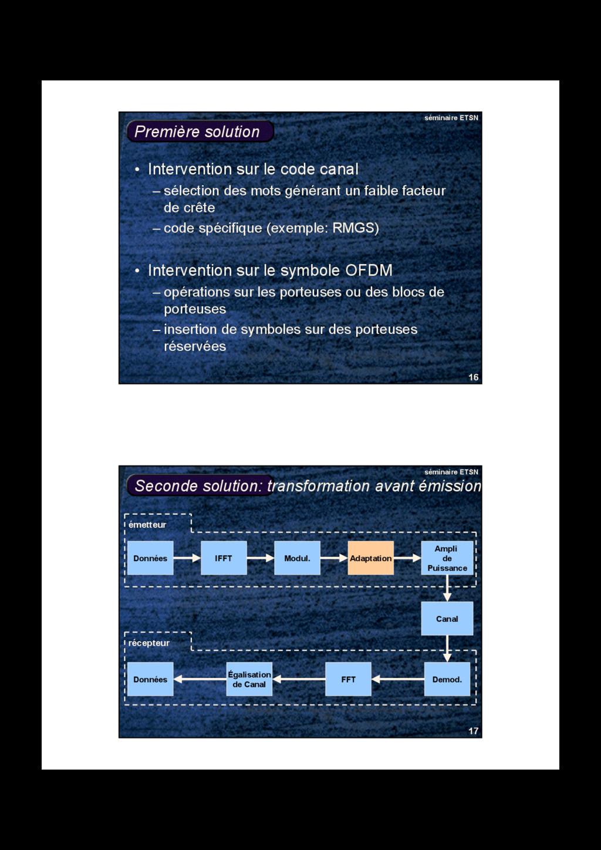 16 séminaire ETSN Première solution • Intervent...