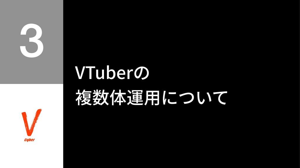 VTuberの 複数体運⽤について