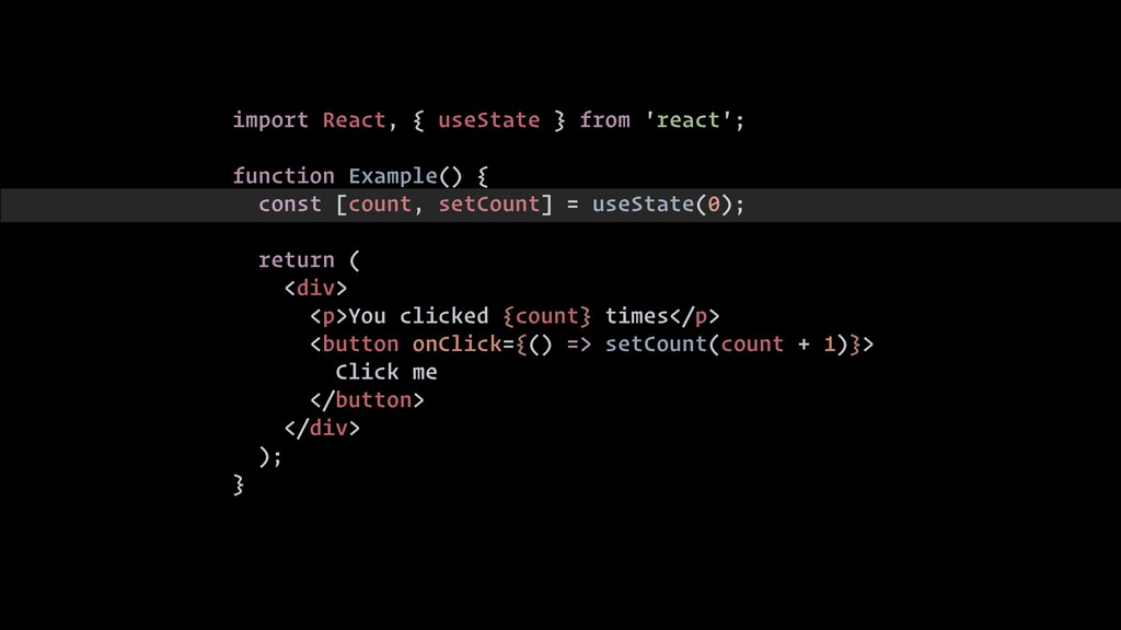 import React, { useState } from 'react'; functi...
