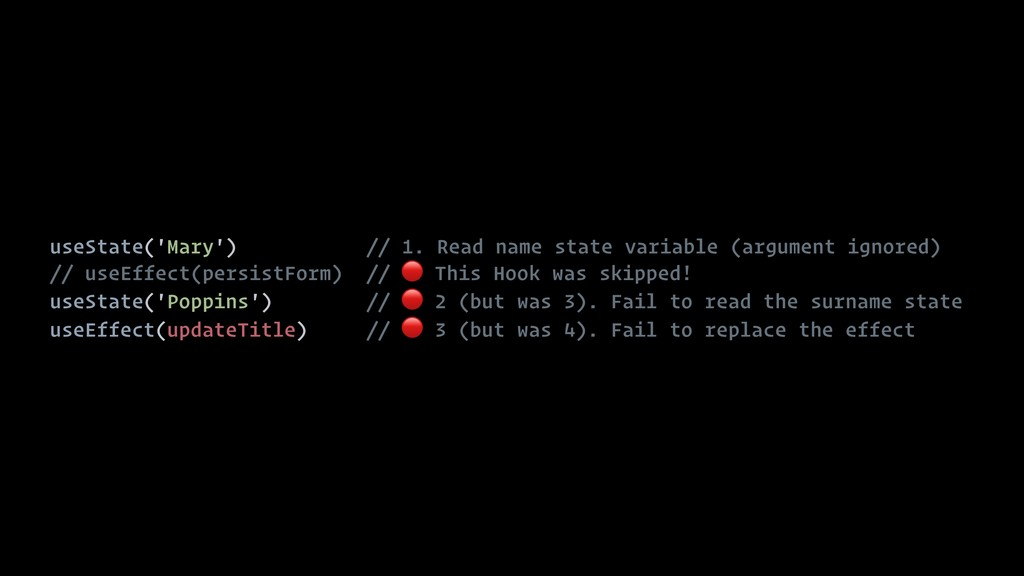 useState('Mary') // 1. Read name state variable...