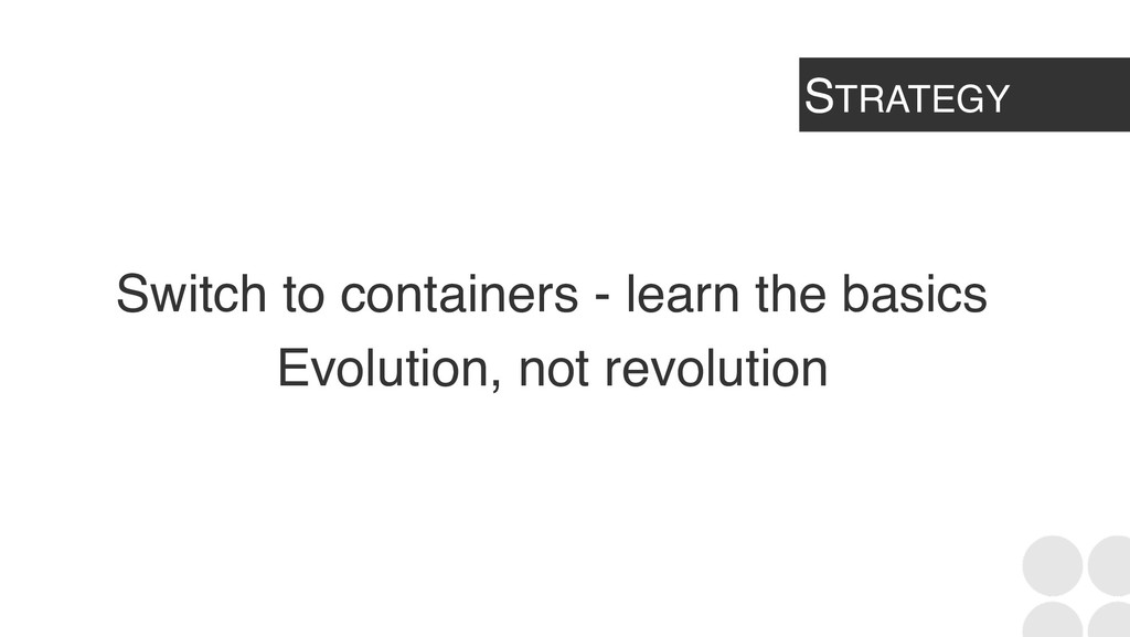 STRATEGY Switch to containers - learn the basic...