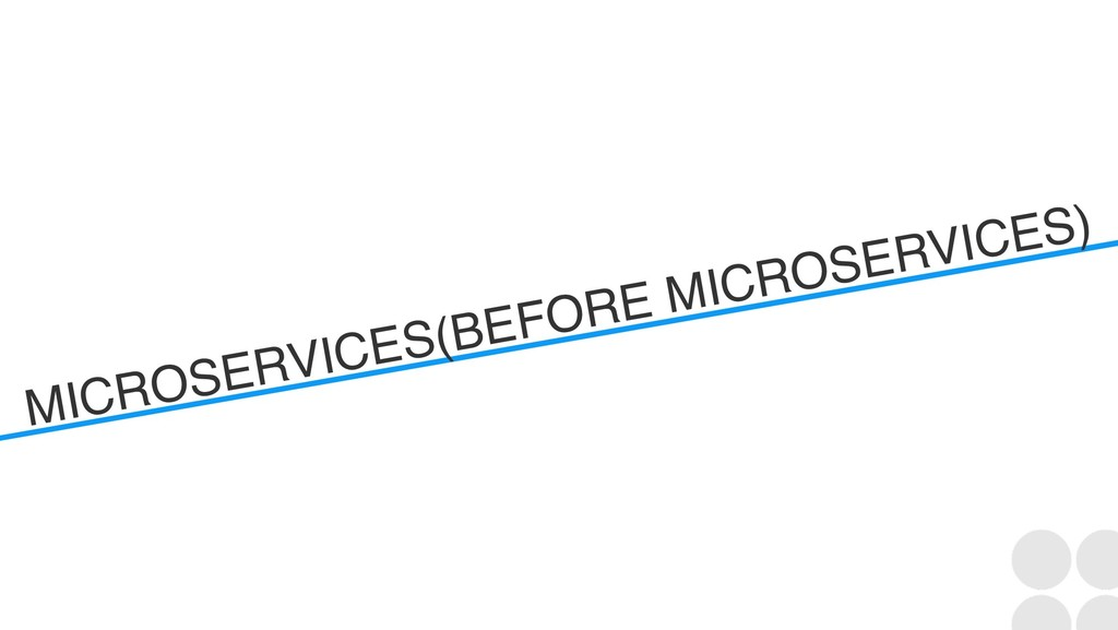 MICROSERVICES(BEFORE MICROSERVICES)