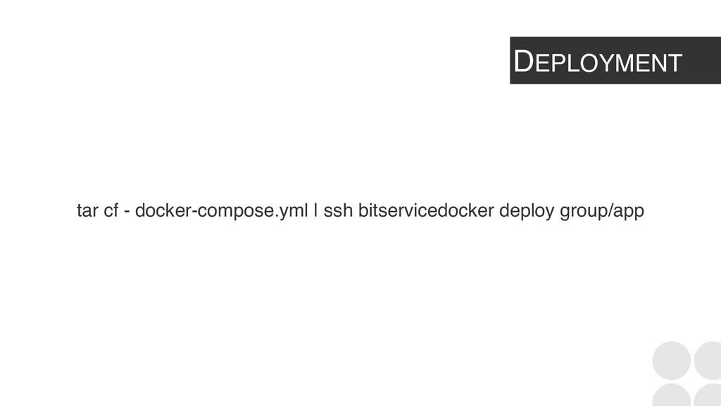 DEPLOYMENT tar cf - docker-compose.yml | ssh bi...