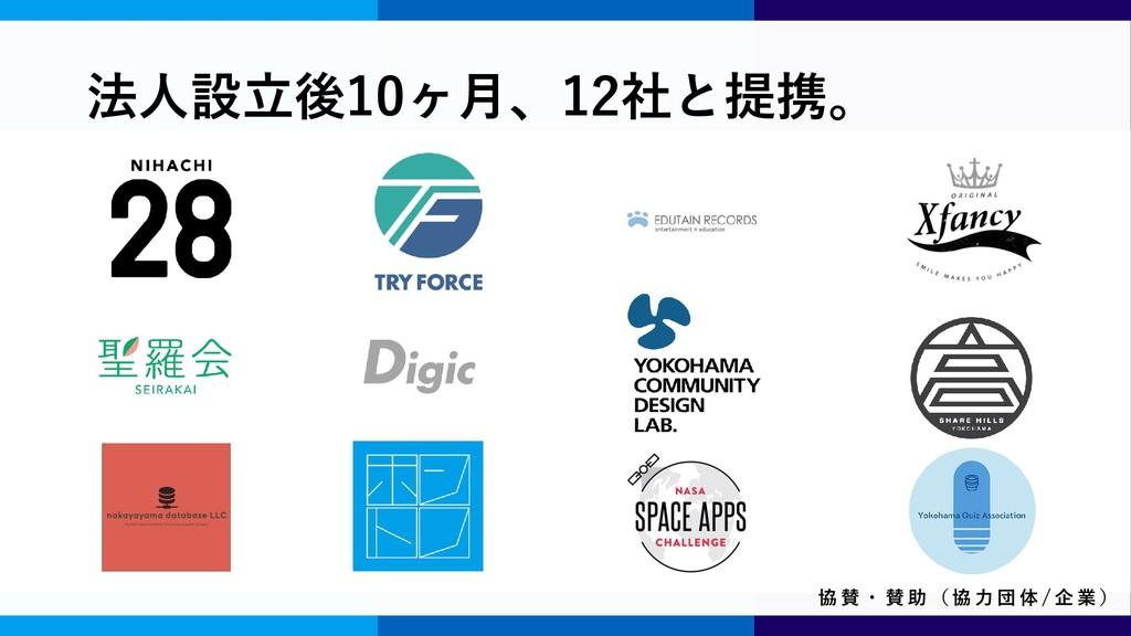 志田 健一 創立者 / 副理事 法人設立後10ヶ月、12社と提携。 協 賛 ・ 賛 助 ( 協...