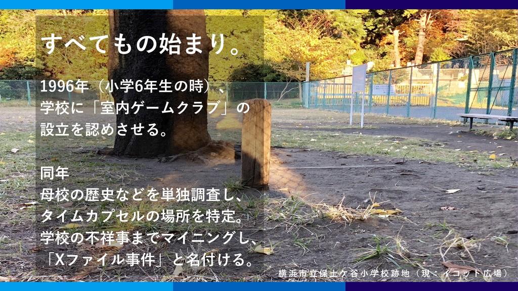 志田 健一 創立者 / 副理事 すべてもの始まり。 1996年(小学6年生の時)、 学校に「室...