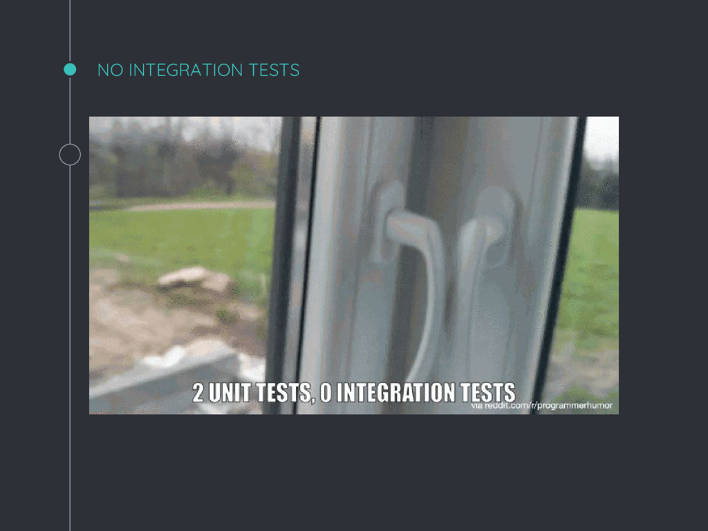 NO INTEGRATION TESTS