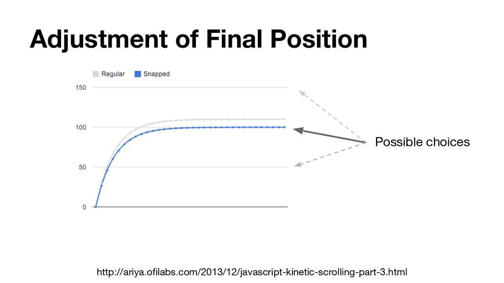 Adjustment of Final Position http://ariya.ofila...