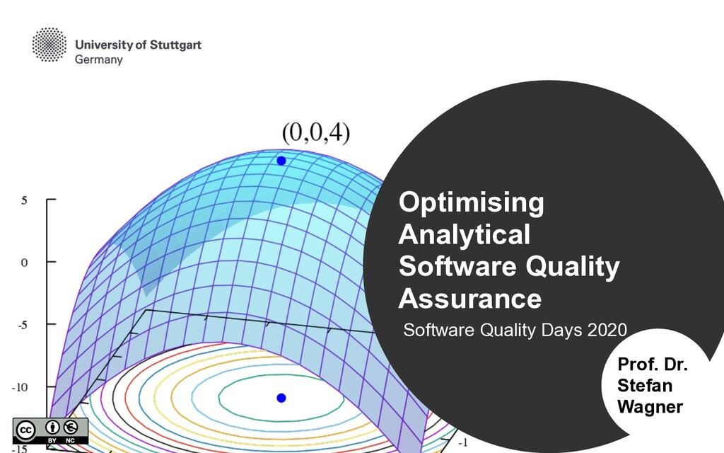 Software Quality Days 2020 Prof. Dr. Stefan Wag...