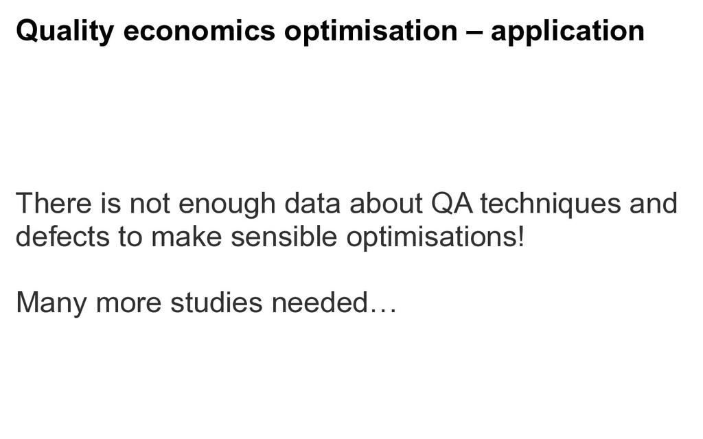 Quality economics optimisation – application Th...