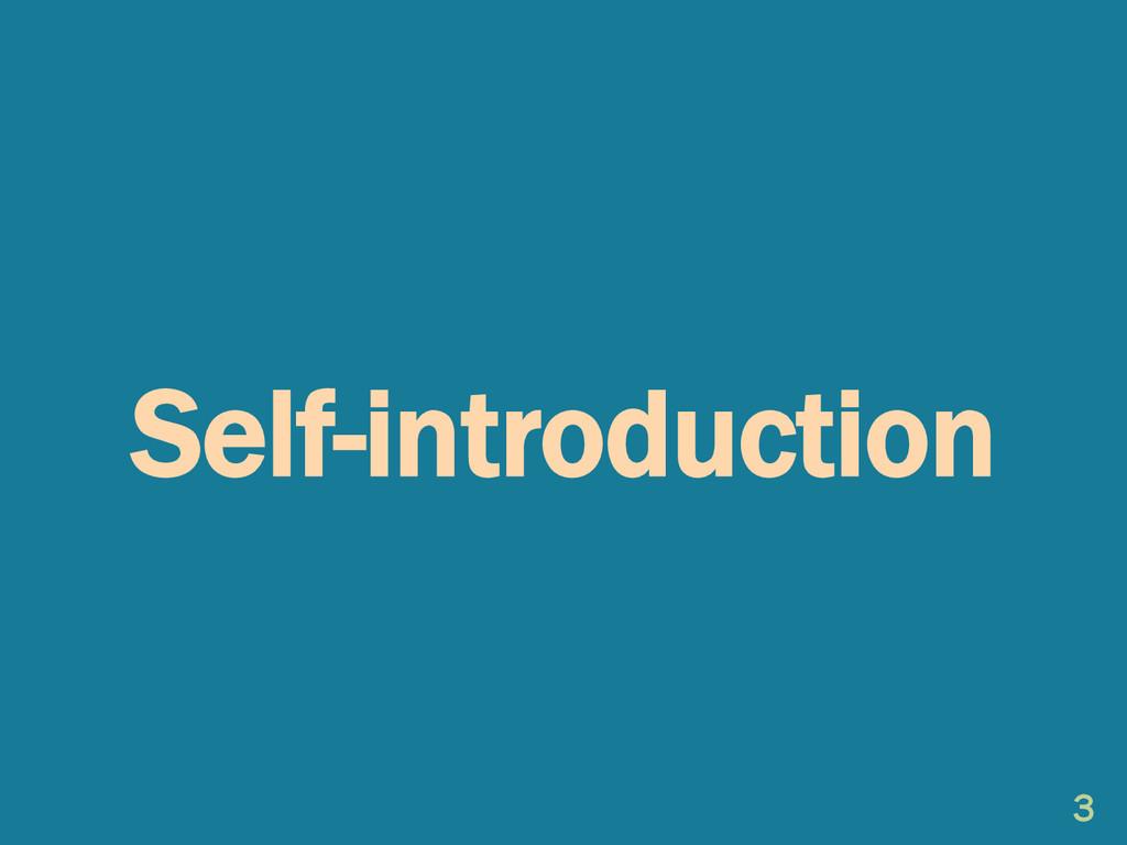 Self-introduction 3