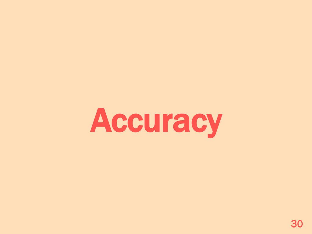 Accuracy 30