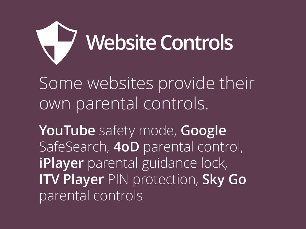 Website Controls Some websites provide their ow...