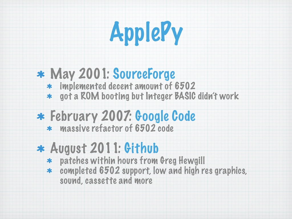 May 2001: SourceForge implemented decent amount...