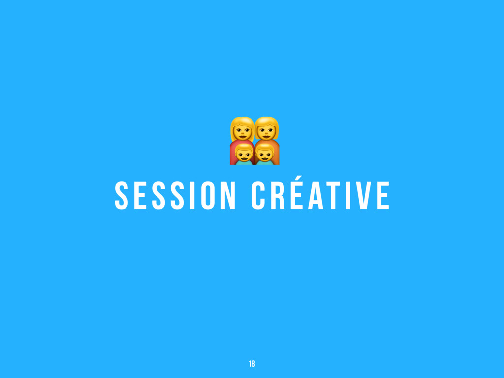 Session créative ' 18