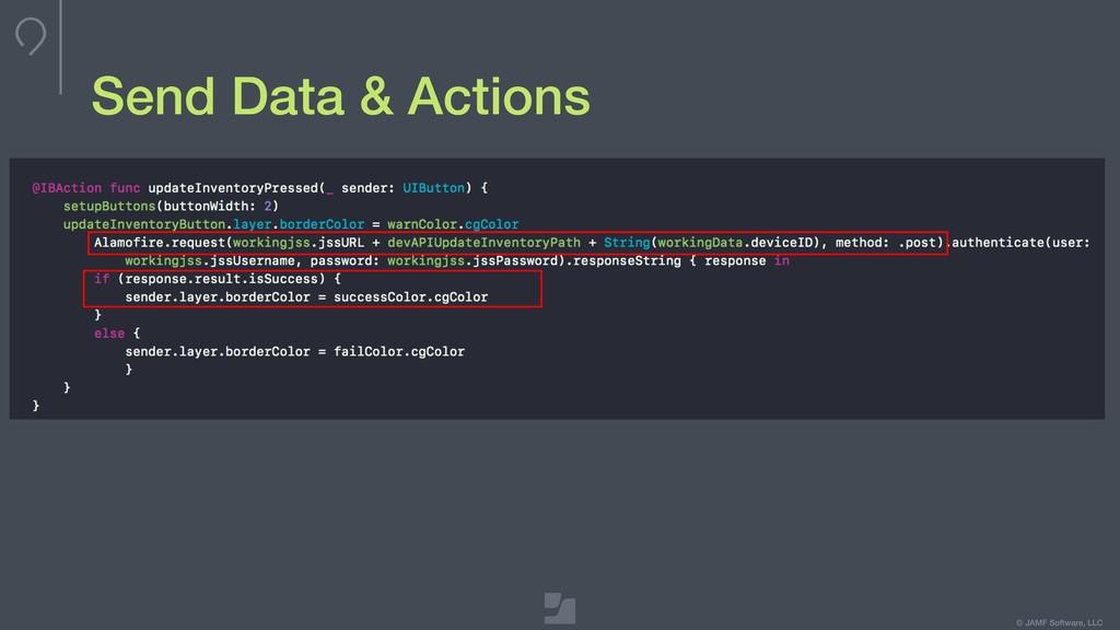 © JAMF Software, LLC Send Data & Actions