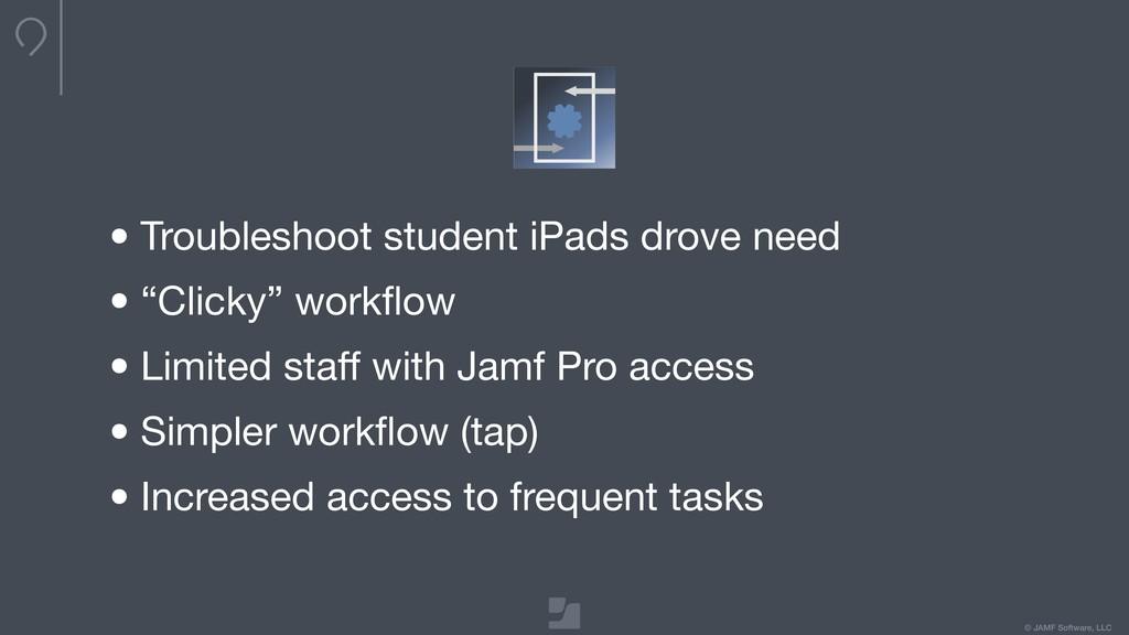 © JAMF Software, LLC •Troubleshoot student iPad...