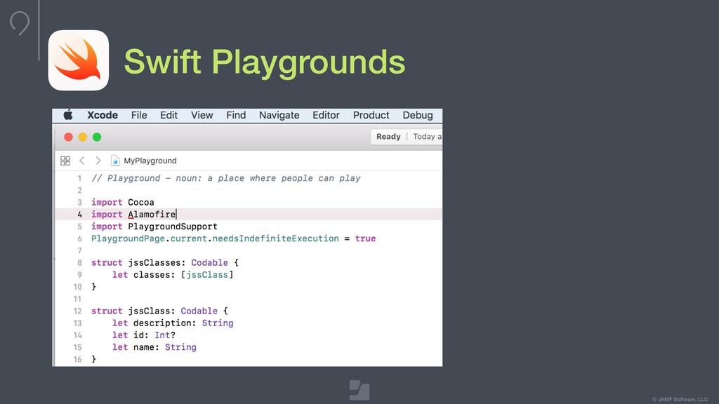 © JAMF Software, LLC Swift Playgrounds