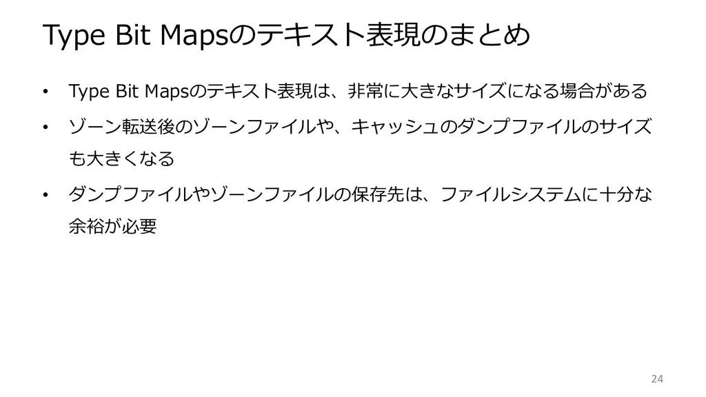 Type Bit Mapsのテキスト表現のまとめ • Type Bit Mapsのテキスト表現...
