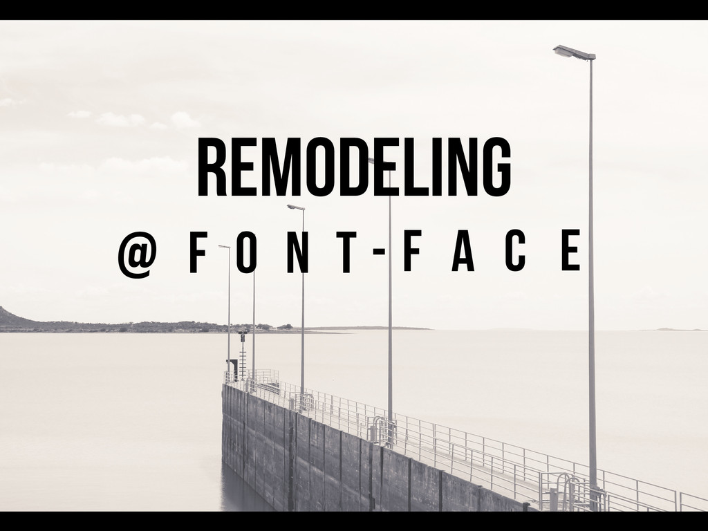 REMODELING N T O F C A F E @ -