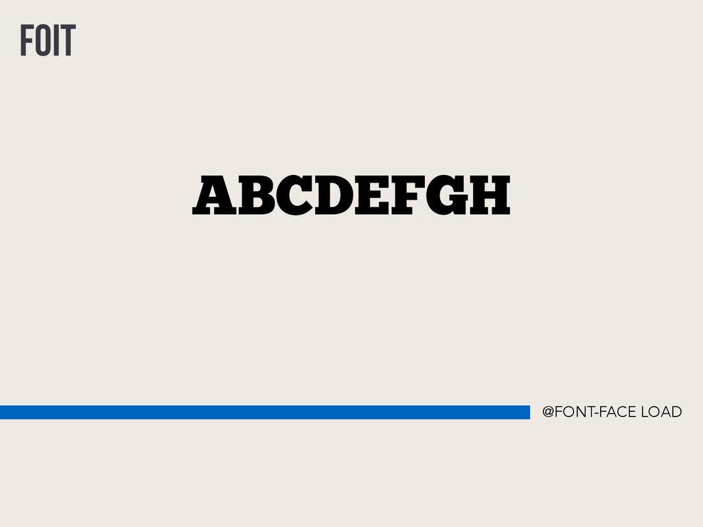 ABCDEFGH FOIT @FONT-FACE LOAD