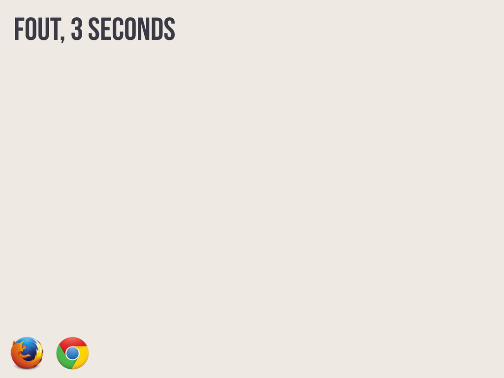 FOUT, 3 seconds