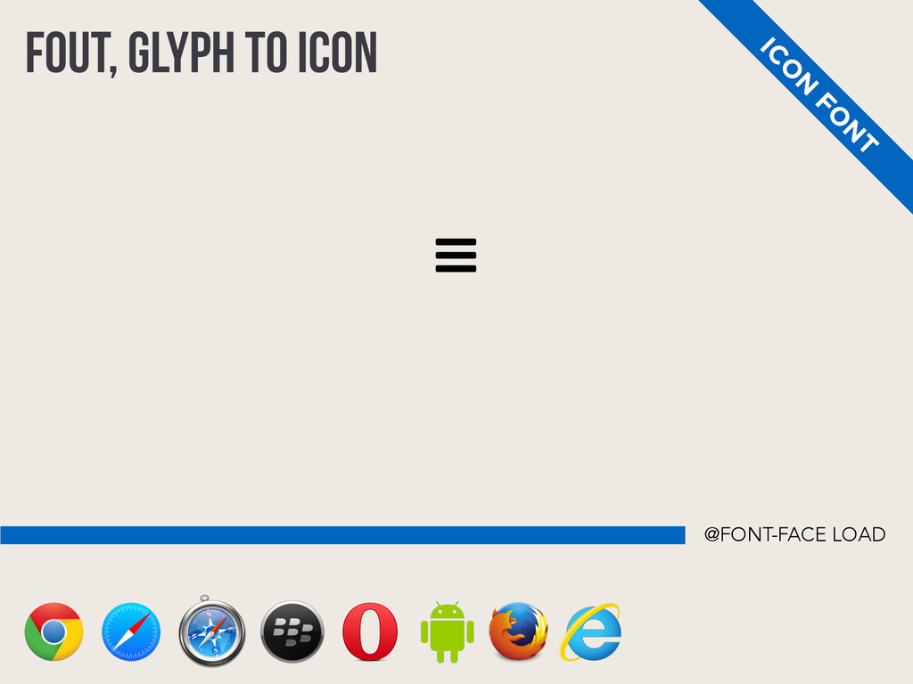 FOUT, GLYPH TO ICON IC O N FO N T @FONT-FACE LO...