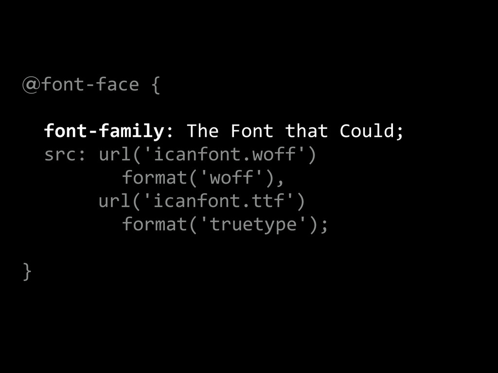 @font-‐face {    font-‐family: Th...