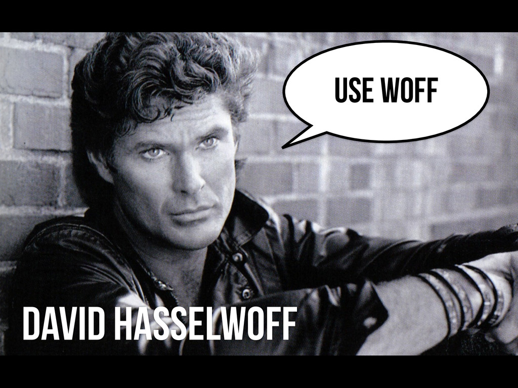David Hasselwoff USE WOFF