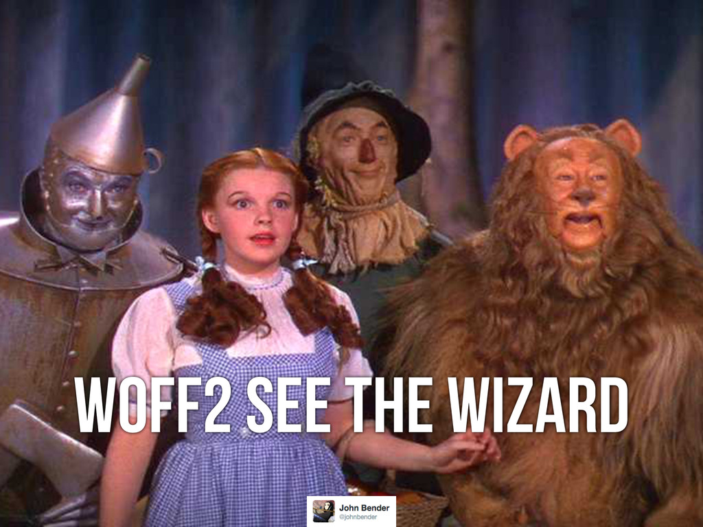 WOFF2 See The Wizard