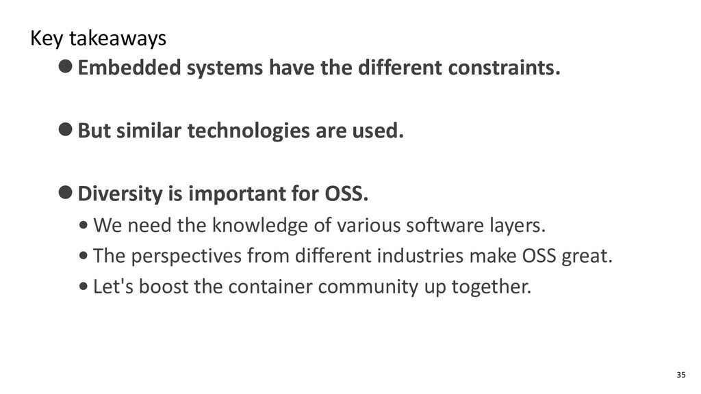 Key takeaways ⚫Embedded systems have the differ...