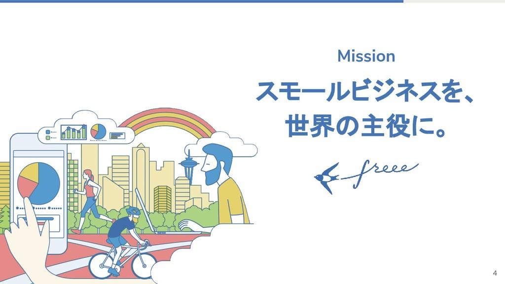 4 スモールビジネスを、 世界の主役に。 Mission