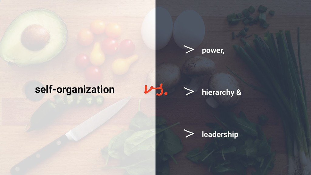 leadership self-organization hierarchy & power,