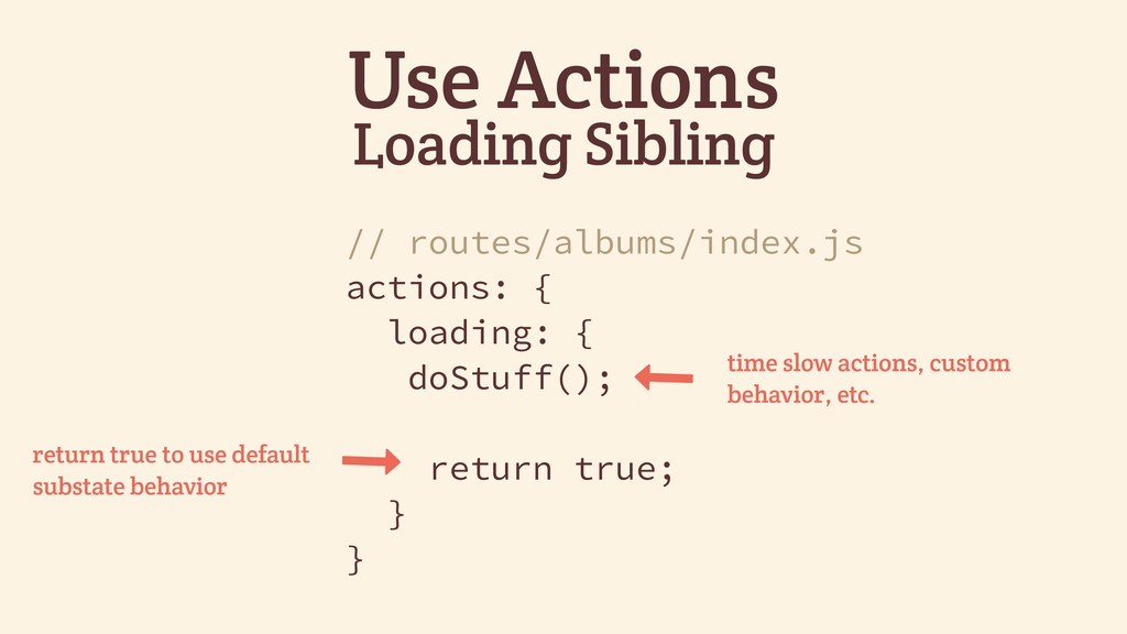 Use Actions Loading Sibling // routes/albums/in...