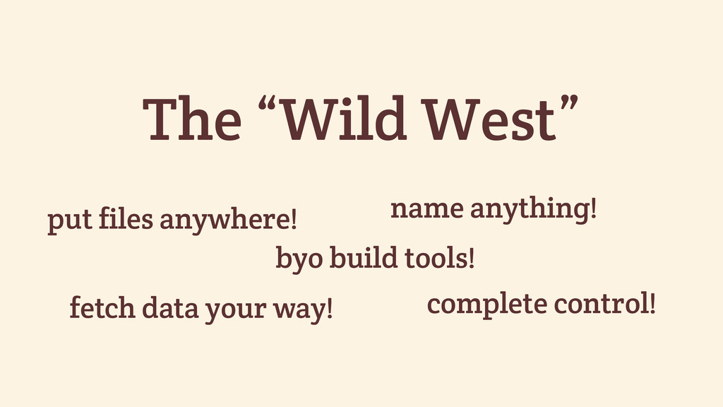 "The ""Wild West"" put files anywhere! name anythi..."