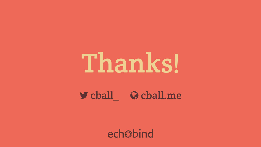 "Thanks! cball_ ! cball.me """