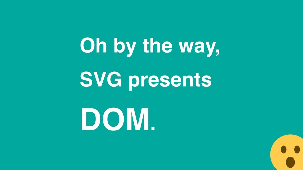 Oh by the way, SVG presents DOM.