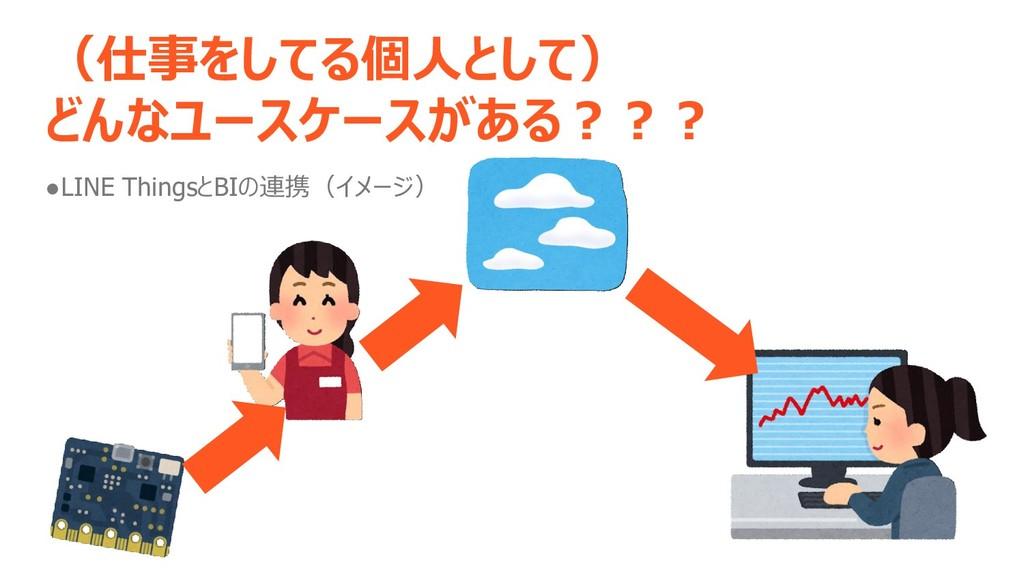 (仕事をしてる個人として) どんなユースケースがある??? ●LINE ThingsとBIの連...