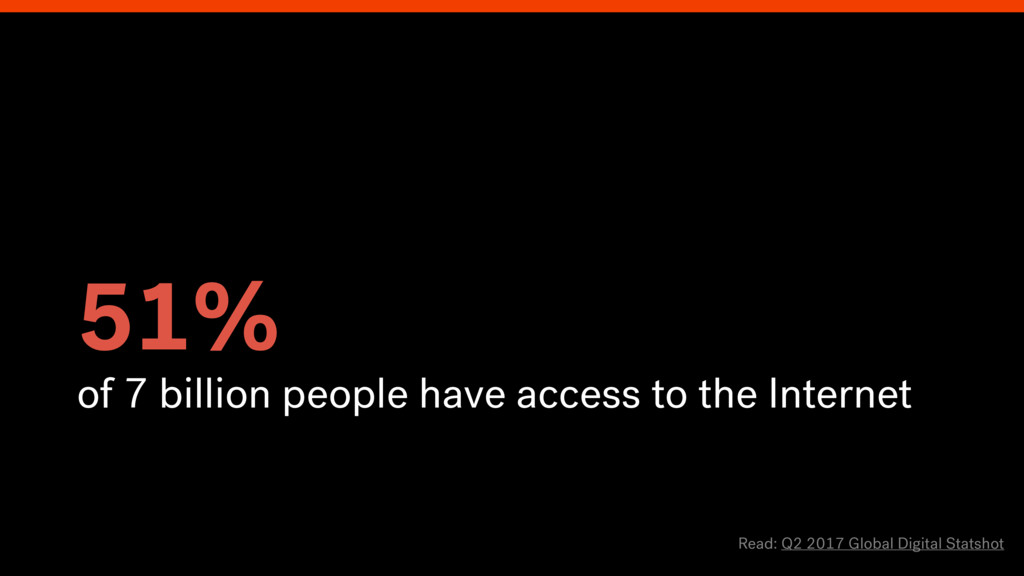 51% of 7 billion people have access to the Inte...