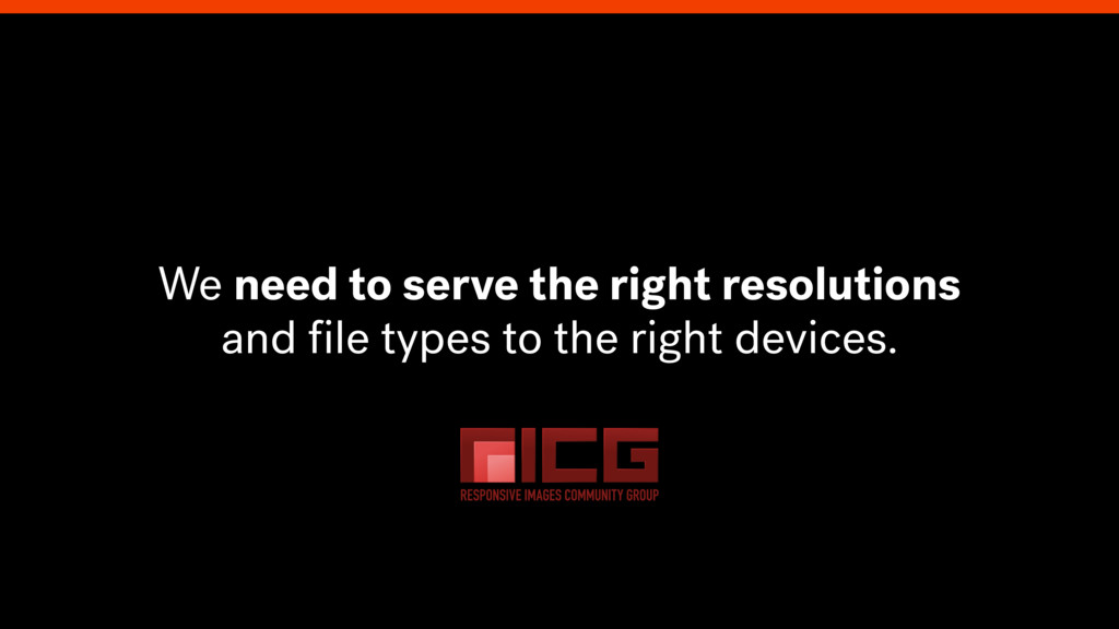 We need to serve the right resolutions and file ...