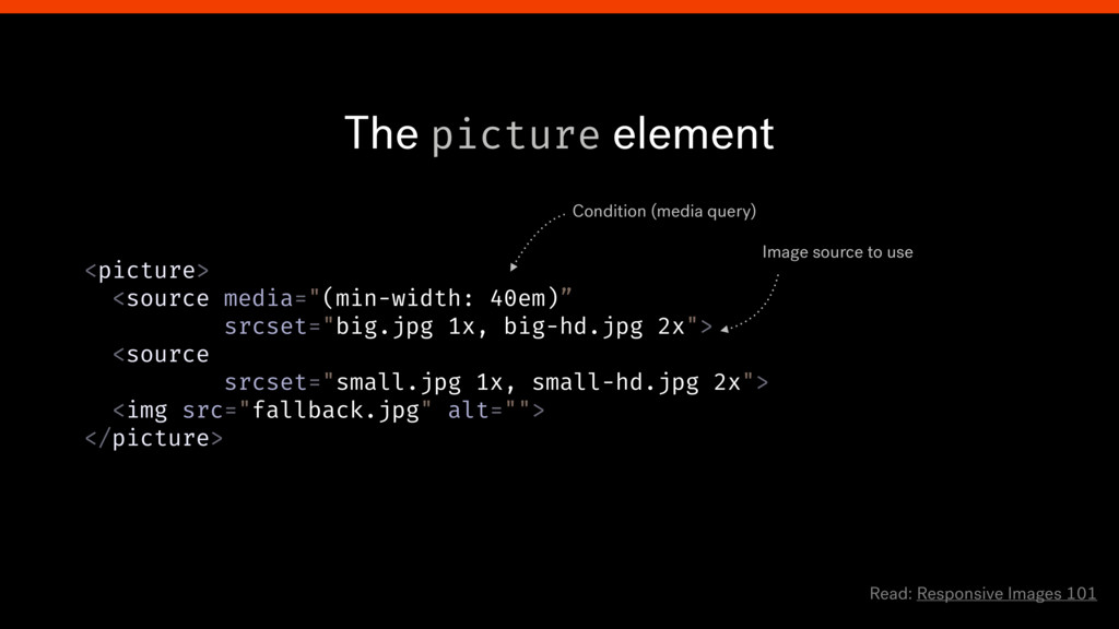 """The picture element <picture> <source media=""""(..."""