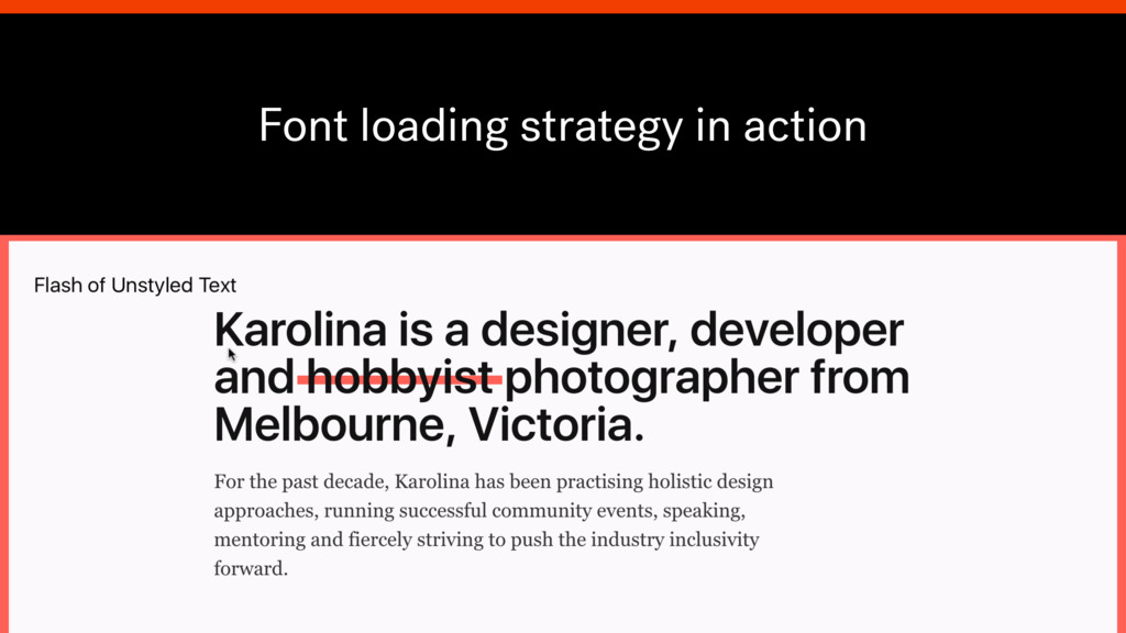 Font loading strategy in action