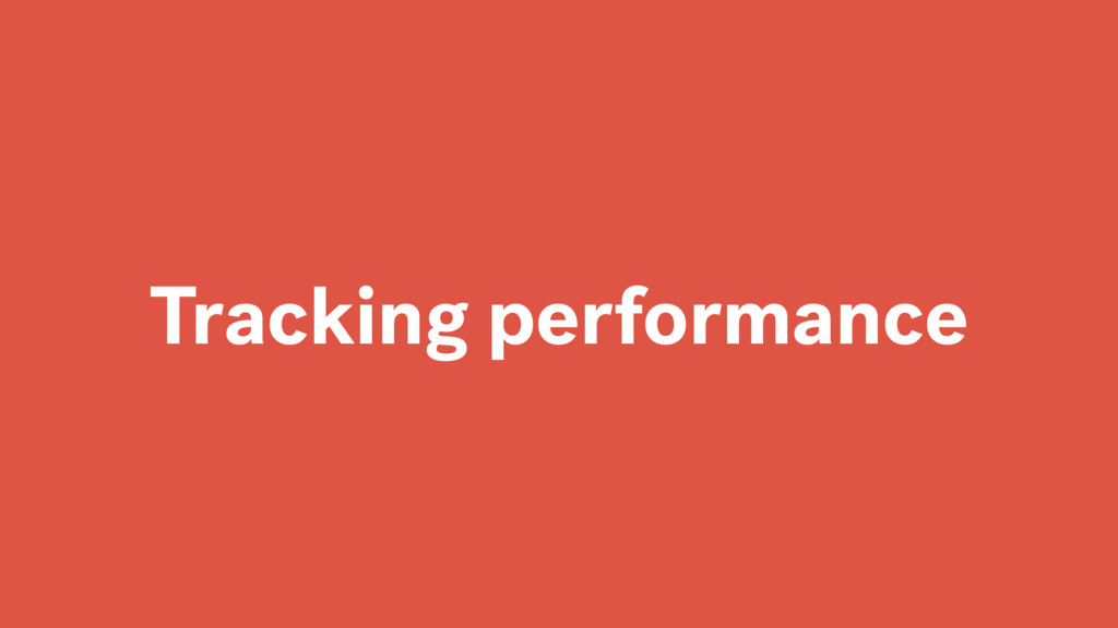 Tracking performance