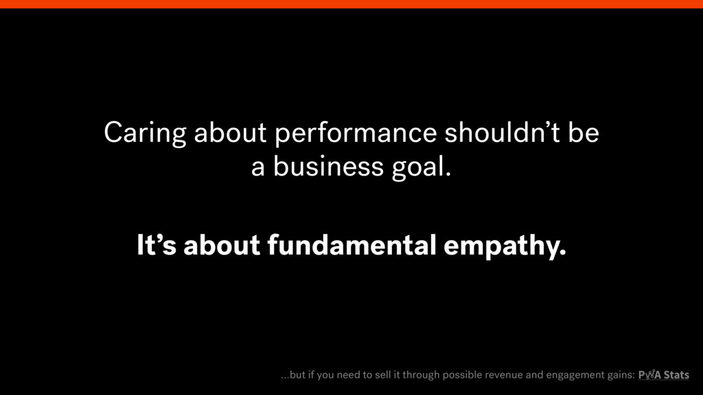 Caring about performance shouldn't be a busines...
