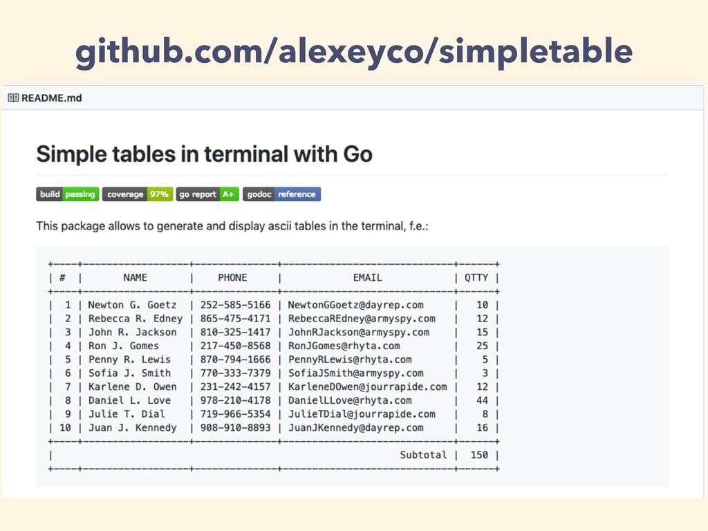 github.com/alexeyco/simpletable