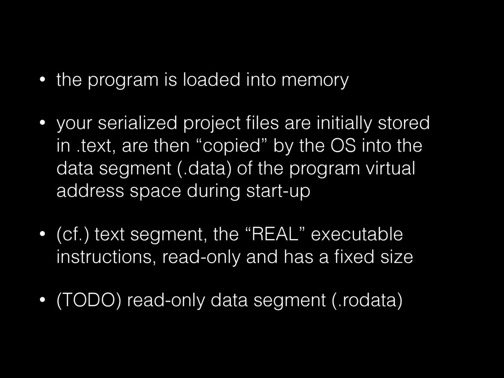 • the program is loaded into memory • your seri...